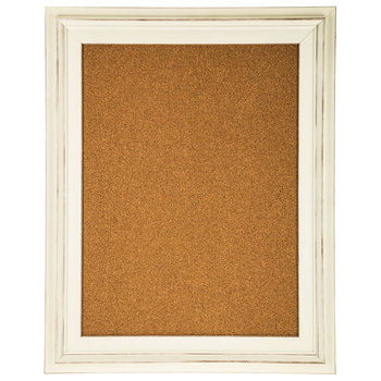 White Distressed Frame Corkboard